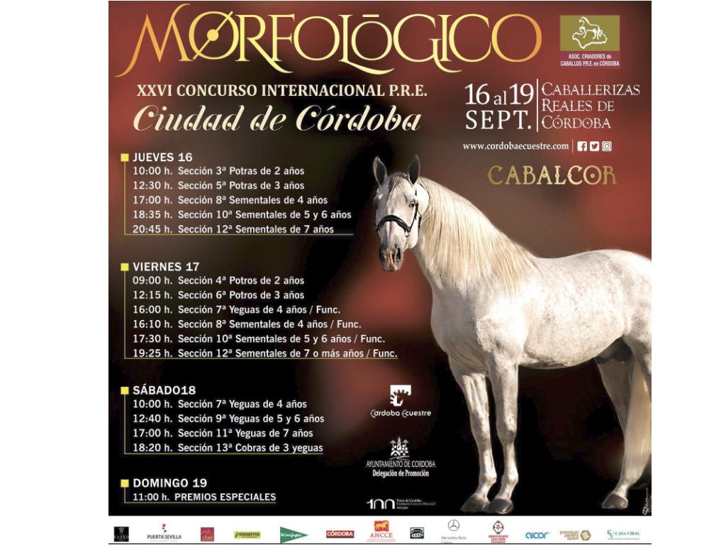"""Cabalcor 2021 presenta el XXVI Concurso Internacional Morfológico """"Ciudad de Córdoba""""."""